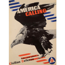 "Original Vintage Propaganda Poster ""America Calling"" by Herbert Matter 1941"