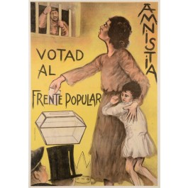 "Spanish Civil War ""Amnistia Votad Al Frente Popular"""