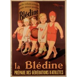 """Original Vintage French Poster """"Le Bledine"""" Henri Le Monnier"""
