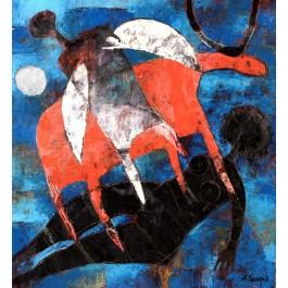 "Original Oil on Canvas ""The Black Women"" by Zacharov"