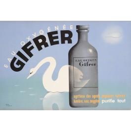 "Original French  Art Deco Pharmaceutical Advertising Poster ""GIFRER"" by Jean Carlu"