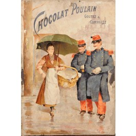 "French Advertising Poster ""Chocolat Poulain"" (EXTREMELY RARE)"