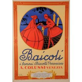 """Italian Poster for The Famous Venetian Biscotti """"BAICOLI"""""""