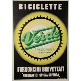 "Italian Bicycle Advertising Poster ""BICICLETTE VERDE - FRESONARA"""