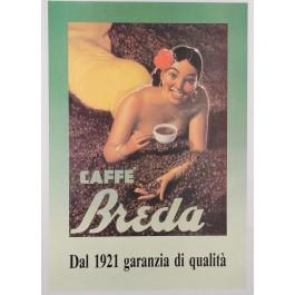"Original Vintage Italian Coffee Poster ""Café Breda"" ca. 1930"