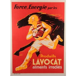 """Vintage France Poster """"Produits LAVOCAT"""" by H. Prost in Lyons ca. 1930"""