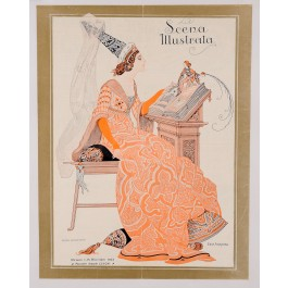 "Original Vintage Art Nouveau Print of ""Scena Illustrata"" by Ezio Anichini 1923"