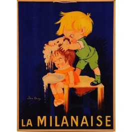 "Original French Vintage Advertising Poster ""La Milanaise"" Shampoo by John Onwy"
