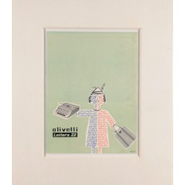 "Original Vintage French Poster ""Olivetti Lettera 22"" by SAVIGNAC ca. 1970"