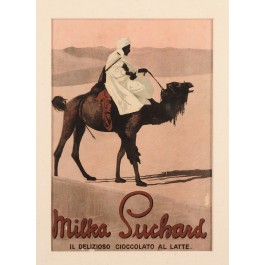 """Original Vintage Advertising Card for """"Milka"""" by Suchard 1940's"""