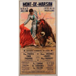 "Original Spanish Advertising Poster ""Bullfight"" by Crolti Jeremy 1940's"