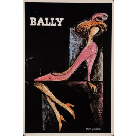 French Poster Advertising Bally Shoes Swiss