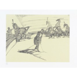 "Original Lithograph from ""The Circus Portfolio"" by TOULOUSE LAUTREC 1990 26/350"