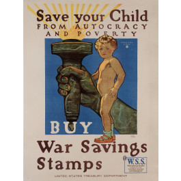 "Original Vintage American Propaganda Poster ""Buy War Saving Stamps"" by H. Paus"