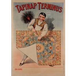 "Original Vintge French Poster ""Tapinap Terminus"" Carpets 1900's"