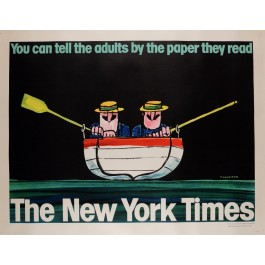 "Original Vintage Poster Advertising ""The New York Times"" by UNGERER 1960's"