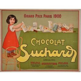 "Original Vintage Swiss Poster Advertising ""Chocolat Suchard"""