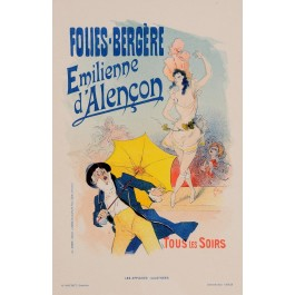 """Original Vintage French Lithograph """"Les Affiches Illustrees"""" by Cheret 1893"""