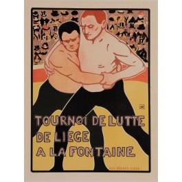 """Original Vintage French Lithograph """"Les Maîtres de l'Affiche"""" by Rassenfosse 1900"""