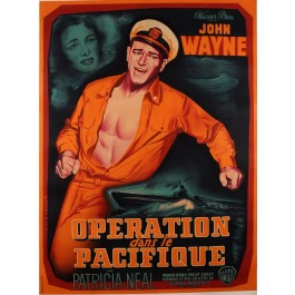 "Original Movie Poster  for ""Operation Pacifique"" Starring John Wayne"