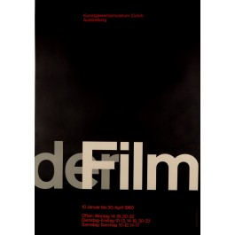 Original Advertising Poster for a Film Festival in Zurich, 1960