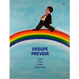Original Vintage Poster GROUPE PREVOIR by Savignac