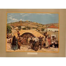 Original Orientalist Chromolithogrpah Poster Mariabron Bu Nazareth Palestine 1926