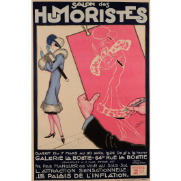 "Original Vintage French Poster for ""Salon des Humoristes"" by Georges Pavis 1926"