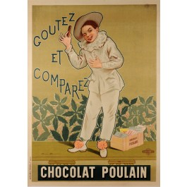 "Original Vintage French Poster for ""Chocolat Poulain"" by Alphonse Marx 1904"