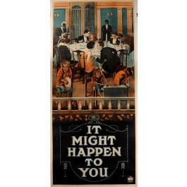 "Original Vintage British Cinema Poster ""It Might Happen to you"" Movie ca. 1900"