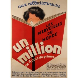 "Original Vintage French Poster for ""Un Million"" Children Coupons ca. 1950"