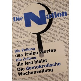 Original Vintage Advertising Poster for The Swiss Newspaper Die Nation 1950's