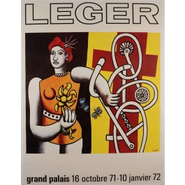 "Original Vintage French Poster Advertising ""Leger Exposition"" Grand Palais 1972"
