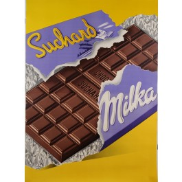 "Original Vintage Swiss Poster Advertising ""Suchard Milka"" Chocolate 1950's"