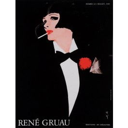 """Original Vintage French Entertainment Poster for """"Femme A I'oeillet"""" by Gruau"""