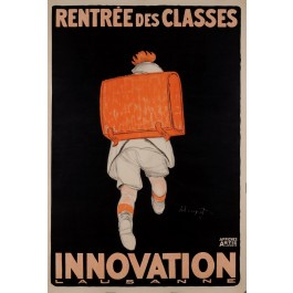 "Original French ART DECO Advertising Poster ""Rentree des Classes"" by Loupot 1917"