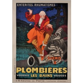 "Original Vintage French Poster ""Plombieres"" Thermal Baths by J. D'ylen ca. 1931"