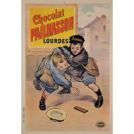 Original Vintage french Poster for 'Chocolat Pailhasson