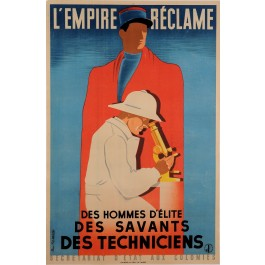 """Original Vintage French Propaganda Poster for """"L'Empire Reclame"""" by Fix-Masseau"""