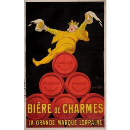 "Original Vintage French Alcohol OVERSIZE Poster for ""Monopol / Biere de Charmes"" Beer by Jean D' Ylen 1924"