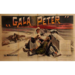 "Original Vintage French OVERSIZE Poster for ""Gala Peter"" Chocolate 1905"