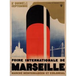 "Original Vintage French Poster ""Foire International de Marseille"" by Mercier"