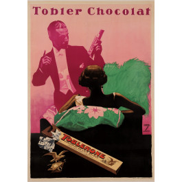 "Original Vintage German Poster for ""Tobler Chocolat"",  ca. 1925 , by Ludwig Hohlwein (1874-1949)"