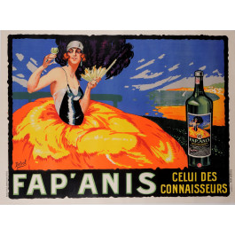 """Original Vintage French Poster for """"Fap'anis"""" by Delval 1930's"""