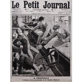"Original Vintage French Newspaper Poster Advertising ""Le Petit Journal"" 1912"