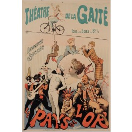 "Original Vintage French Poster for ""Theatre de la Gaite"" by Alfred Choubrac"