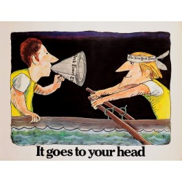 "Original Vintage Poster ""The New York Times - It Goes to Your Head"" by G. Solin"