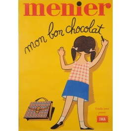 "Original Vintage French Poster Advertising ""Chocolat Menier"" 1960's"