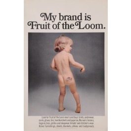 "Original Vintage American Poster Advertising ""My Brand is Fruit of the Loom"""