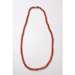 Antique Coral Gemstones Necklace 63 cm 56 gr.